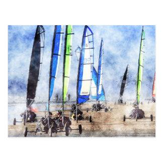 Cefn Sidan Blokart Racing Competition Post Card