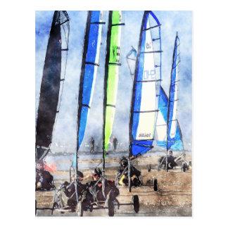 Cefn Sidan Blokart Racing Competition Post Cards