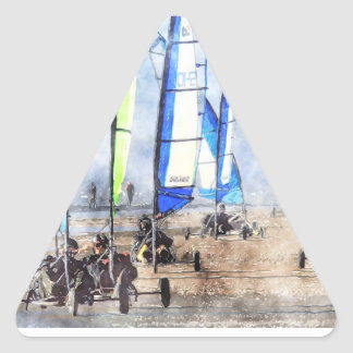 Cefn Sidan Blokart Racing Competition Triangle Stickers