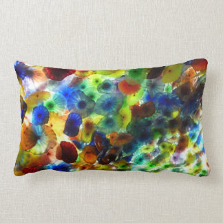 Ceiling Bellagio Las Vegas architecture colorful b Pillow