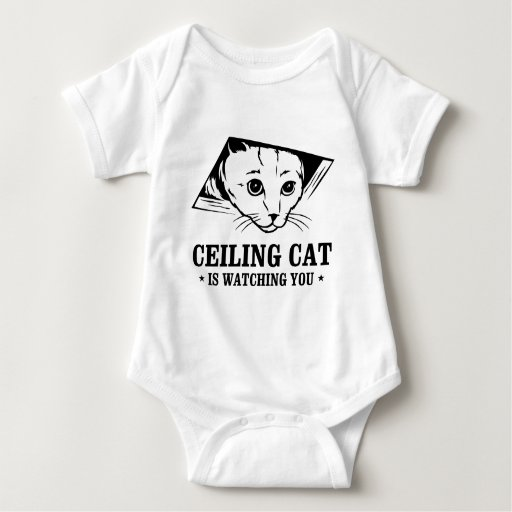 Ceiling Cat is Watching You Baby Bodysuit