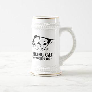 Ceiling Cat is Watching You Beer Stein