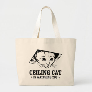 Ceiling Cat is Watching You Canvas Bags