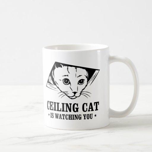 Ceiling Cat is Watching You Coffee Mug