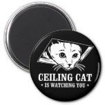 Ceiling Cat is Watching You Fridge Magnets