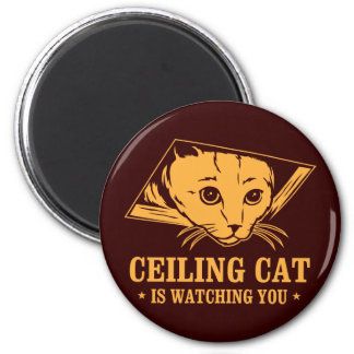 Ceiling Cat is Watching You 2 Inch Round Magnet