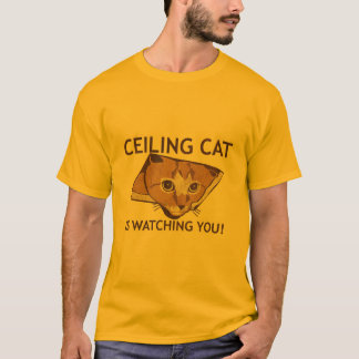Ceiling Cat is watching you! T-Shirt