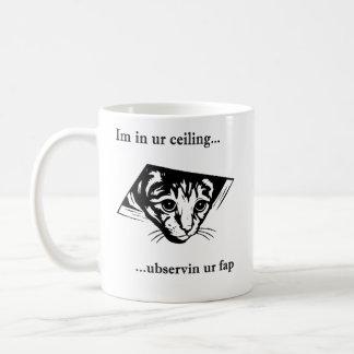 Ceiling Cat ubservin u... Coffee Mug