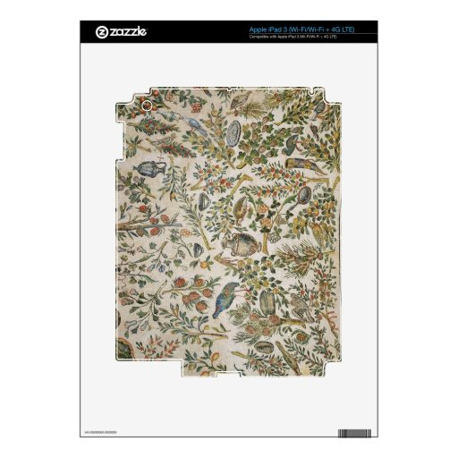 Ceiling decoration with flowers and birds (mosaic) skin for iPad 3
