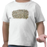 Ceiling decoration with flowers and birds (mosaic) tshirt