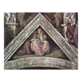 Ceiling Fresco For The Story Of Creation In The 4.25x5.5 Paper Invitation Card