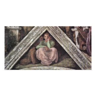 Ceiling Fresco For The Story Of Creation In The Photo Card Template