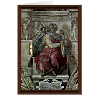 Ceiling Fresco For The Story Of Creation In The Si Greeting Card