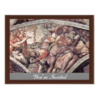 Ceiling Fresco For The Story Of Creation In The Si 4.25x5.5 Paper Invitation Card