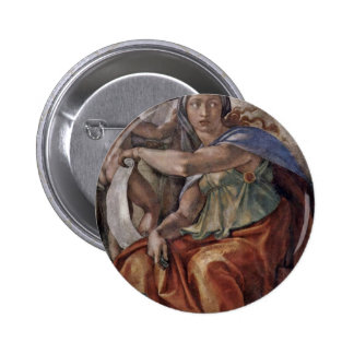 Ceiling Fresco For The Story Of Creation In The Si Pinback Button
