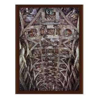 Ceiling Fresco For The Story Of Creation In The Si Postcard