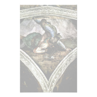 Ceiling Fresco For The Story Of Creation In The Si Custom Stationery