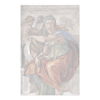 Ceiling Fresco For The Story Of Creation In The Si Stationery Design