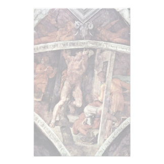 Ceiling Fresco For The Story Of Creation In The Si Personalized Stationery