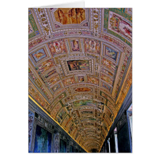 Ceiling in Corridor Leading to Sistine Chapel Card