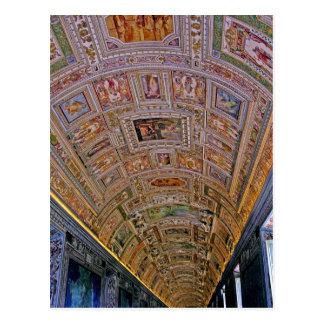 Ceiling in Corridor Leading to Sistine Chapel Postcard