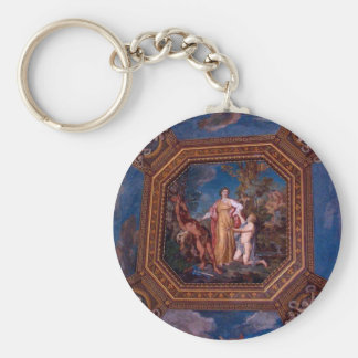 Ceiling in the Vatican in Rome, Italy Keychain