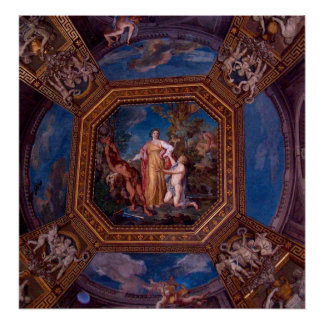 Ceiling in the Vatican in Rome, Italy Poster