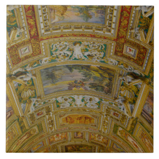 Ceiling in the Vatican Museum in Rome Italy Tile