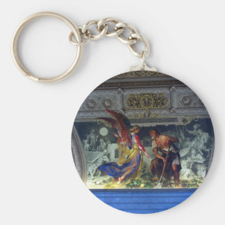Ceiling in the Vatican Museum in Rome Keychain