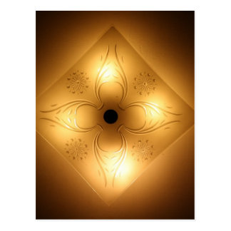 Ceiling Light Fixture – Square with 4 Lights Postcard