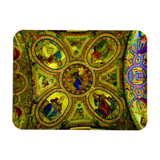 Ceiling of a Church in Rome Rectangular Photo Magnet