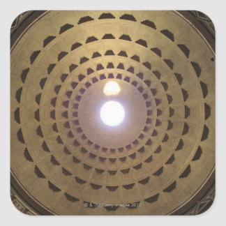 Ceiling of the dome in Pantheon in Rome, Italy Square Sticker