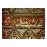 Ceiling Of The Loggia Di Psyche By Raffael Greeting Card