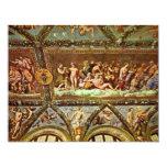 Ceiling Of The Loggia Di Psyche By Raffael 4.25x5.5 Paper Invitation Card