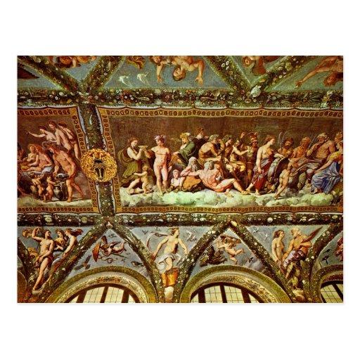 Ceiling Of The Loggia Di Psyche By Raffael Postcard