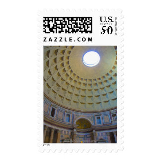 Ceiling of the Pantheon in Rome, Italy. Postage