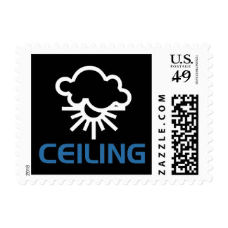 Ceiling - Weather Sun & Clouds Postage Stamps