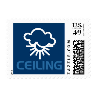Ceiling - Weather Sun & Clouds Stamp