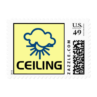 Ceiling - Weather Sun & Clouds Postage