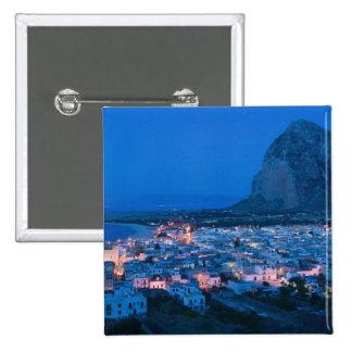 CEJA de Italia, Sicilia, SAN VITO LO, ciudad de va Pin Cuadrada 5 Cm