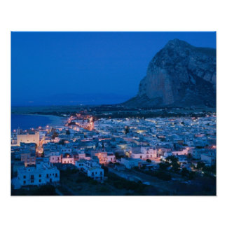 CEJA de Italia, Sicilia, SAN VITO LO, ciudad de va Póster