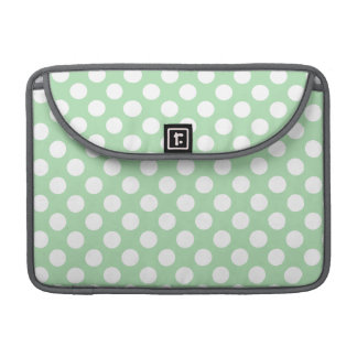 Celadon Green Polka Dots Sleeve For MacBooks