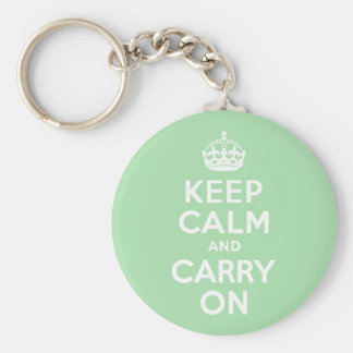 Celadon Keep Calm and Carry On Key Chain