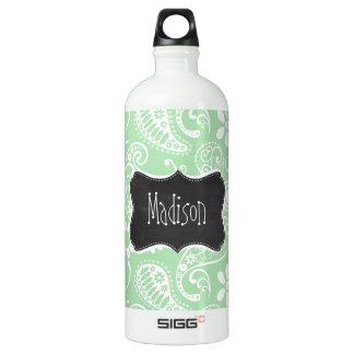 Celadon Paisley; Floral; Chalkboard look SIGG Traveler 1.0L Water Bottle