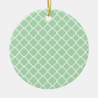 Celadon Quatrefoil Ornamento De Navidad