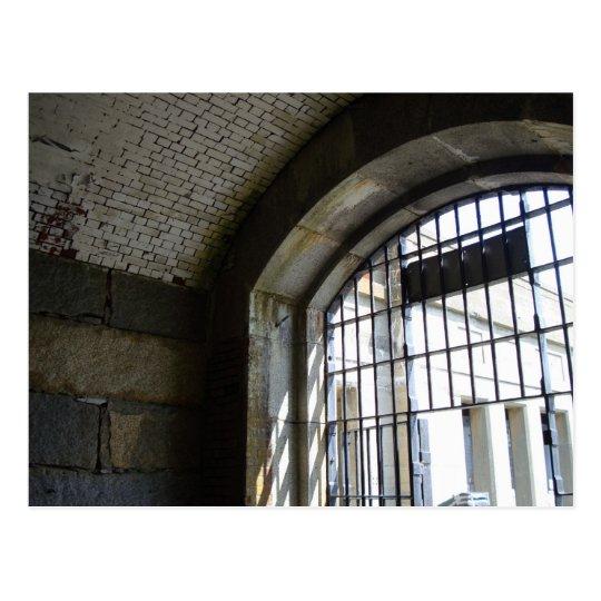 Celda de prisión histórica tarjeta postal