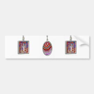 Celeberations: Velas brillantes de las decoracione Pegatina De Parachoque