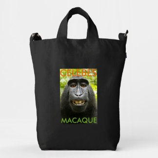 Celebes Crested Macaque Monkey Duck Bag