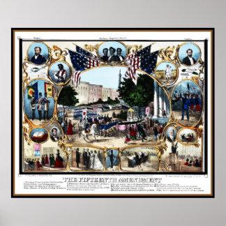 Celebración 1870 de la enmienda del vintage del póster