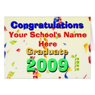 Celebración 2009 de la graduación de Cutom Tarjeta De Felicitación